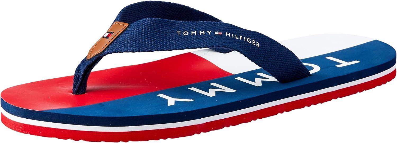 Tommy Hilfiger Sandal Azul Caucho Niño Zuecos Sandalias