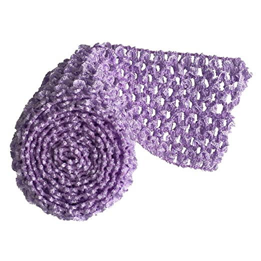 Amazoncom 275 Wide Crochet Headband Trim 5 Meters Lavender