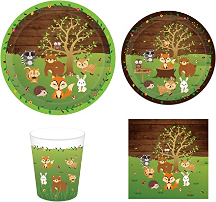 Paper Cups Happi Woodland Girl Animals Cute 1st Birthday Party 9 oz