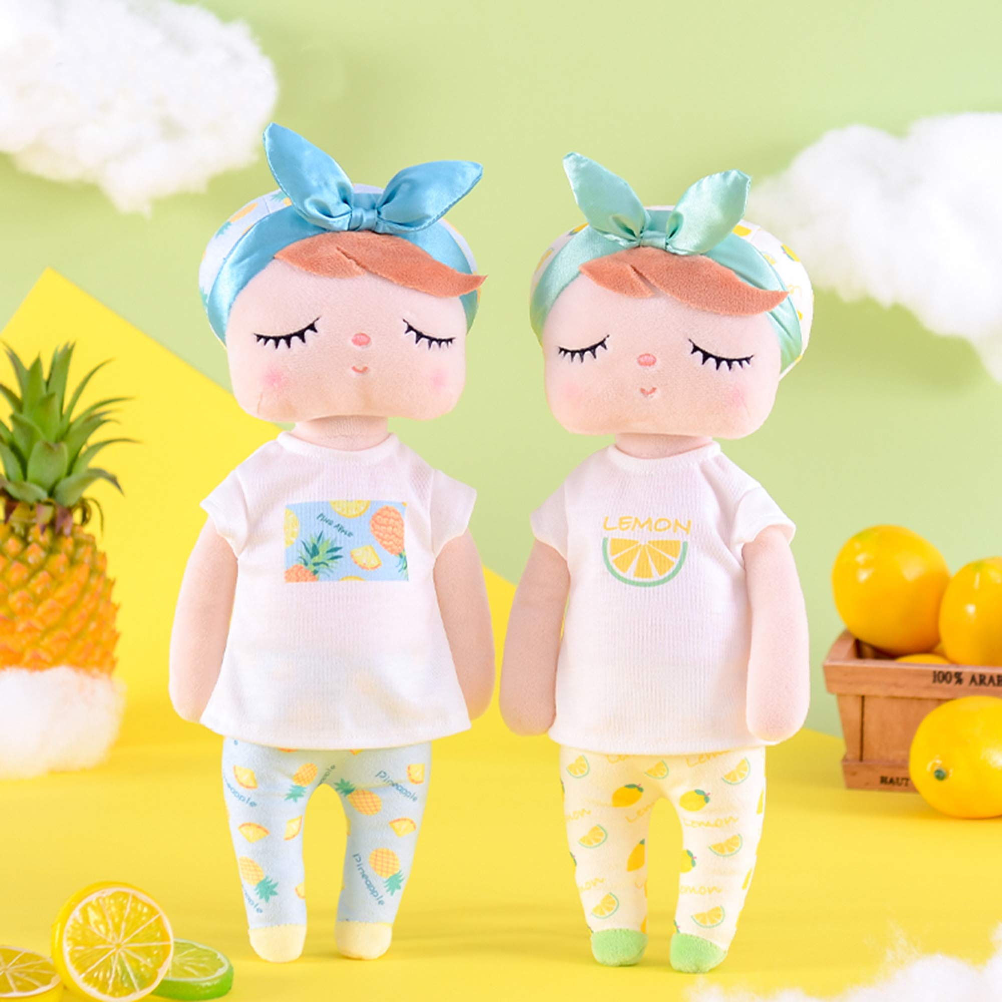 Me Too Baby Dolls Girl Gifts Stuffed Plush Doll Angela Fruit Girl Toys Pineapple 13 Inches