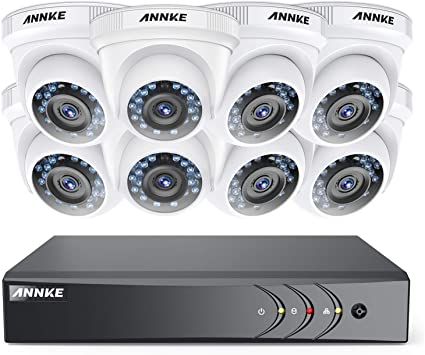 4CH DVR HD Outdoor Night Vision CCTV Security Camera System Kit ANNKE 3MP H.264