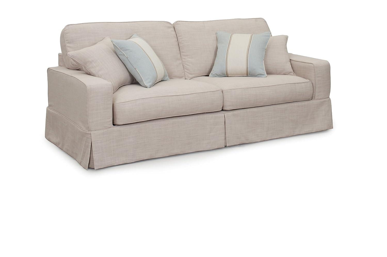 Amazon.com: Sunset Trading American Slipcovered Sofa, 88\