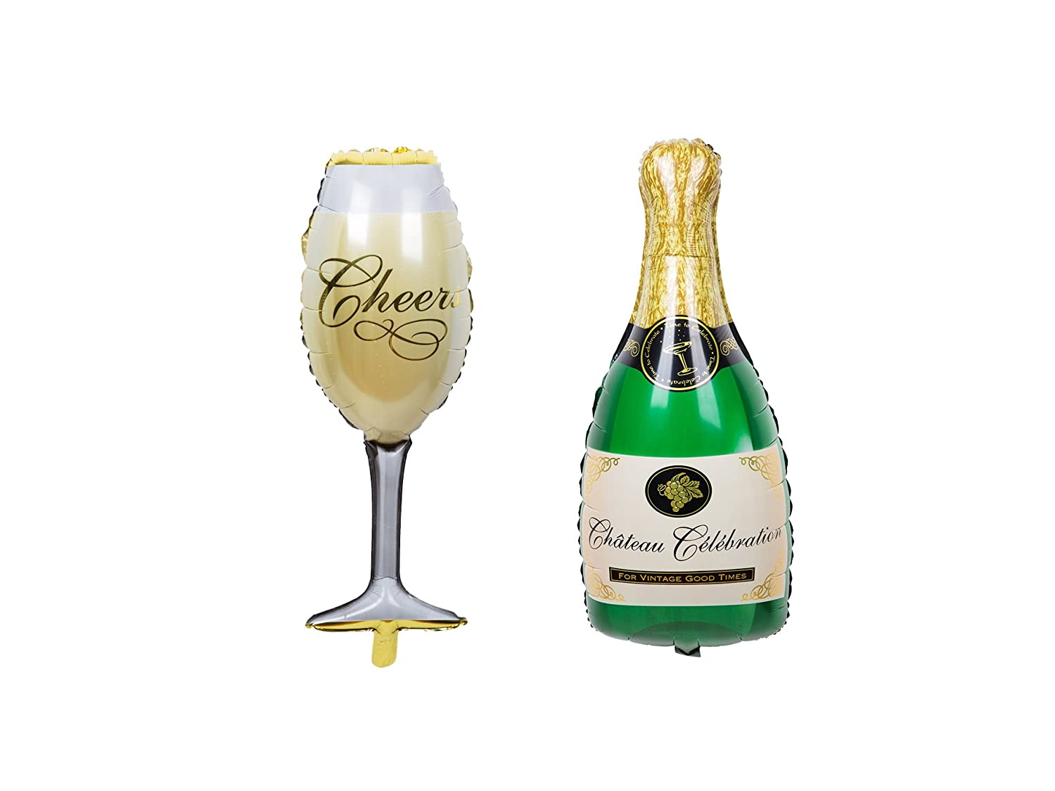 Party Balloons Champagne Bottle Goblet Balloons For Party,Anniversary,Engagement Decorations