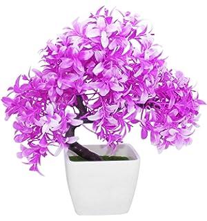 tiedribbons artficial bonsai indoor plants with pot bonsai artificial plants with pot bonsai