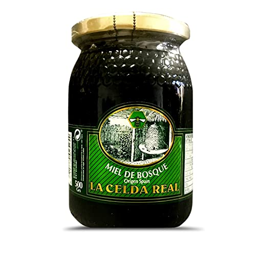 La Celda Real - Natural Honey 500g - Origin from Spain - 100% Pure - Finest Quality - 3 Flavour: Rosemary Honey / Orange Blossom Honey / Forest Honey (Rosemary Honey)