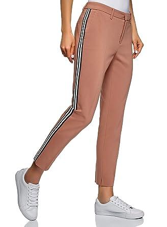 oodji Ultra Donna Pantaloni in Maglia con Cintola Elastica