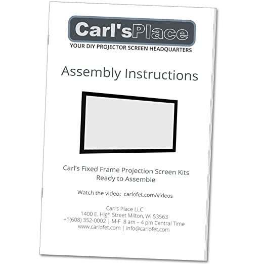 Amazon.com: Carl\'s Fixed Frame Projector Screen Kits, FlexiWhite (16 ...