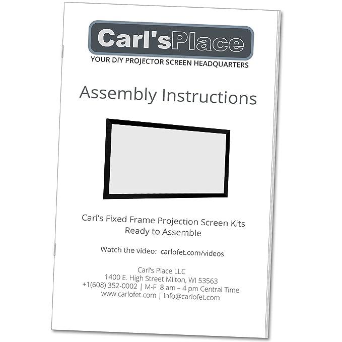 Amazon.com: Carl\'s Fixed Frame Projector Screen Kits, FlexiWhite (16 ...