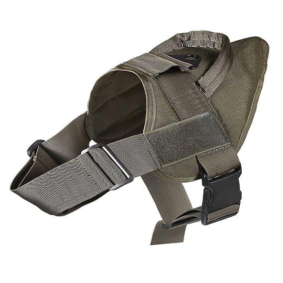 Luxugen Militar Nylon arnés del perro K9 táctico chaleco para ...