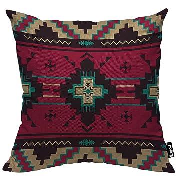 Amazon.com: Mugod - Funda de almohada con patrón étnico ...