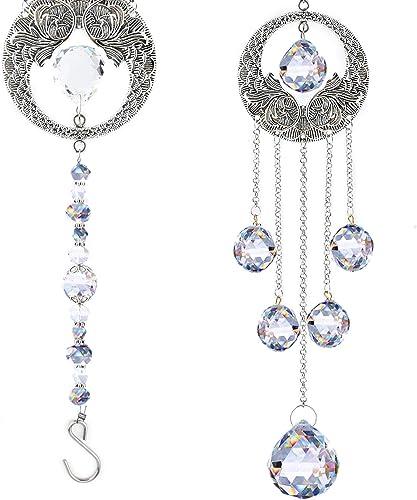 XINRUI Crystal Suncatcher Hanging Ornament Crystals Ball Prism Rainbow Maker