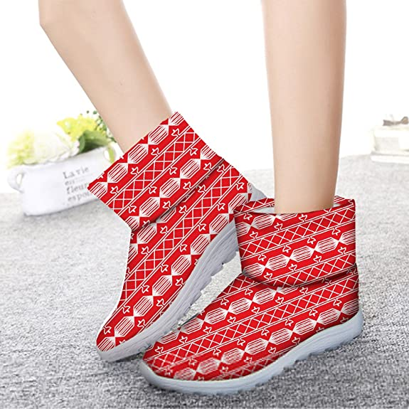 Fashion Christmas Theme Women's Shoes Winter Warm Short Boots Footwear