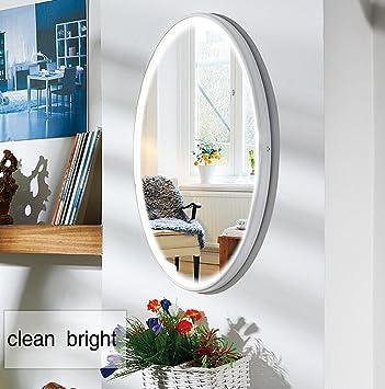 LED Spiegel, NANAMI Wandspiegel mit Beleuchtung, Moderne ... | {Spiegel mit beleuchtung rund 10}