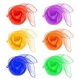 Da.Wa Juggling Dance Scarves Square Multicolor Scarve 12 Pcs (60cm x 60cm)