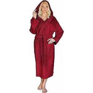 Arus Men s Classic Hooded Bathrobe Turkish Cotton Terry Cloth Robe ... 03aa14e27