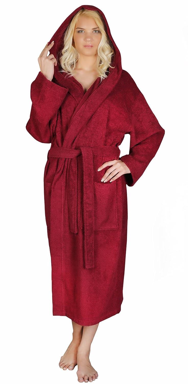 f1876cbe9f031 Arus Women s Classic Hooded Bathrobe Turkish Cotton Terry Cloth Robe at  Amazon Women s Clothing store