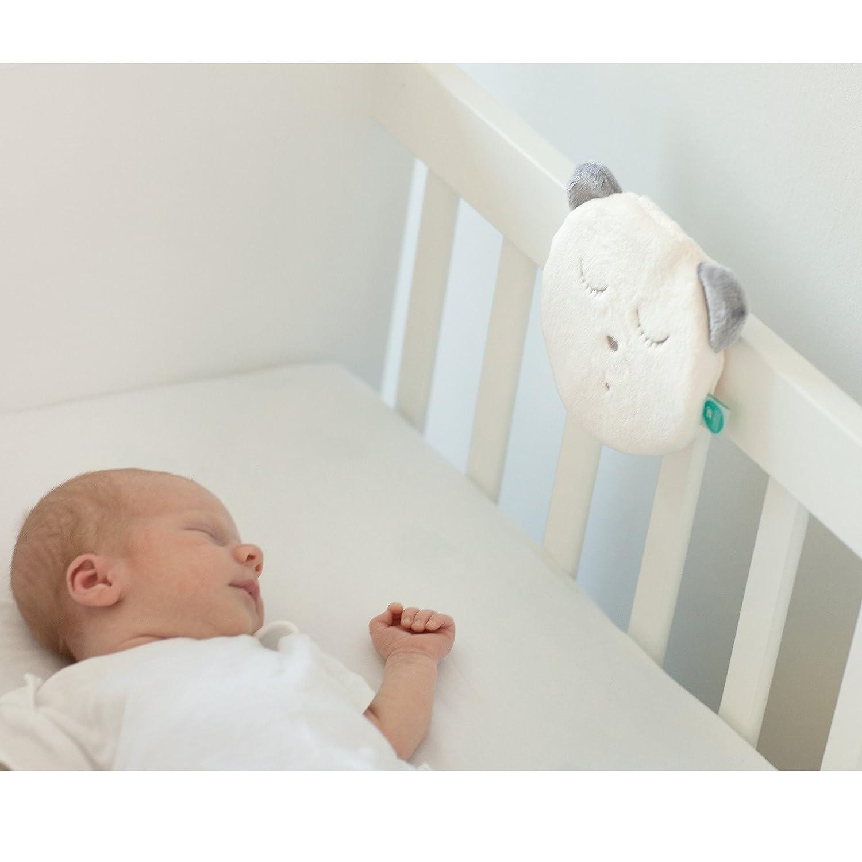 """SZUMISIE MyHummy schlafendes Maskottchen mit Einschlafhilfe K/""""pfchen NO SLEEPSENSOR ECRU"""