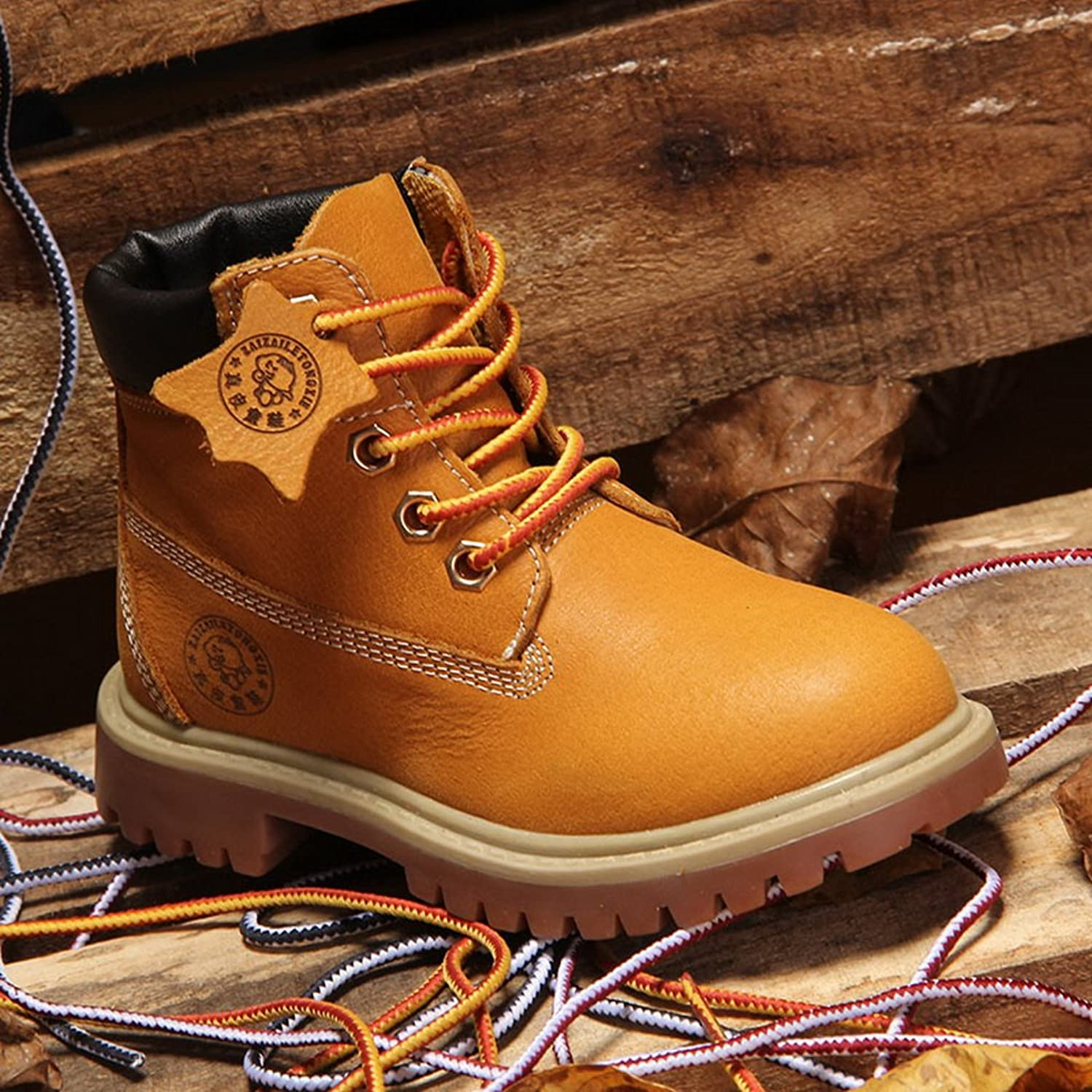 Lukis Winter Boys High Lace Ups Casual Flats Martin Boots Leather Shoes  Yellow 10 Child UK: Amazon.co.uk: Shoes & Bags