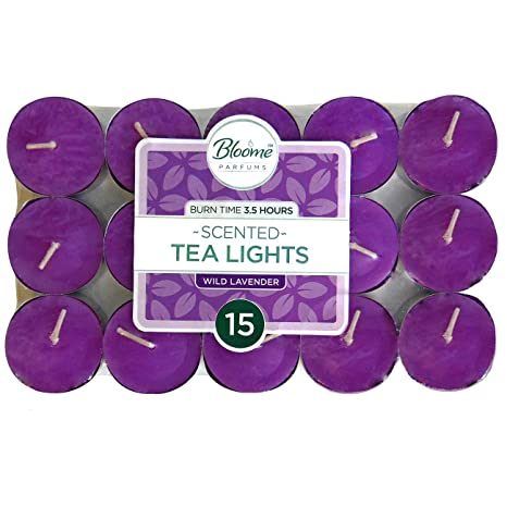 Cotton Flowers Fragranced Scented Tealights Tea Light Candles Choose 1 to 50