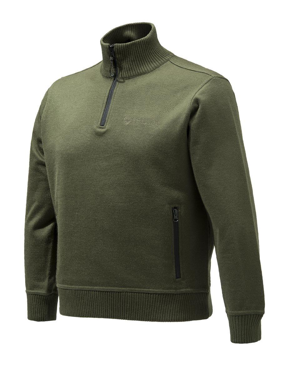 Beretta BEPU421T12010715S Techno windshield Half Zip Jacket, Green, Small by Beretta (Image #1)