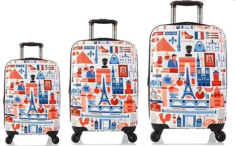 Equipaje, Maletas y Bolsas de Viaje - Premium Designer Maleta Rígida Set 3 Piezas -
