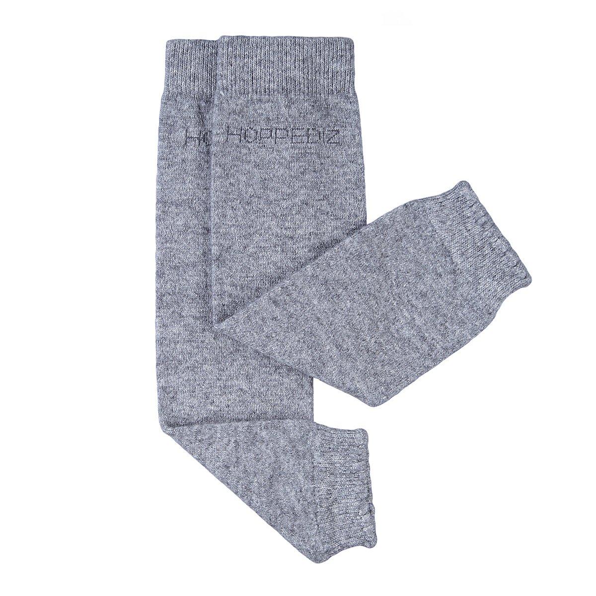 Hoppediz–Cachemira/Lana de merino bebé calentadores de la pierna (gris) HOPPEDIZ GmbH & Co. KG Stk-gra