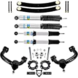 """WULF 3.5"""" Front 2"""" Rear Leveling Lift Kit with Control Arms and Bilstein Struts and Shocks compatible with 2005-2015 Toyota T"""
