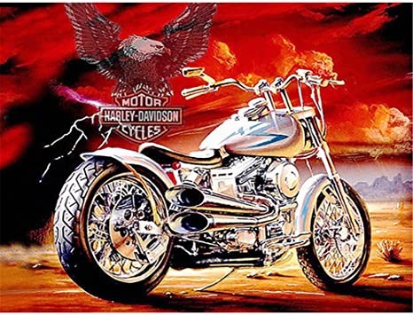 Full Drill 5D Diamond Painting Harley Eagle Cross Stitch Kits Embroidery Decors
