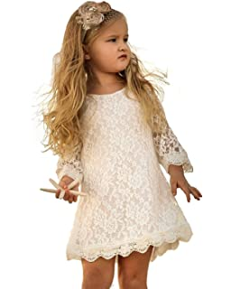 0cb2f1a36 Amazon.com  APRIL GIRL Flower Girl Dress