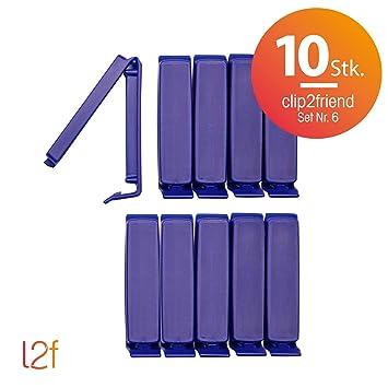 clip2friend Juego Nº 6 (10 piezas), 10 bolsas de clips/bolsa ...