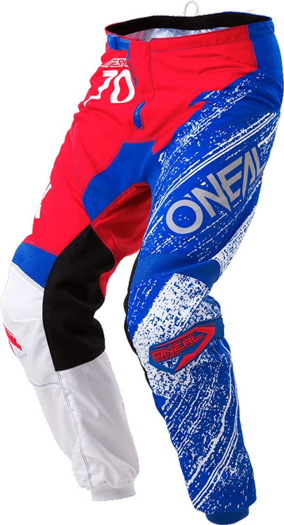 ONeal Unisex-Adult Element Burnout Pant Red//White//Blue, Size 28