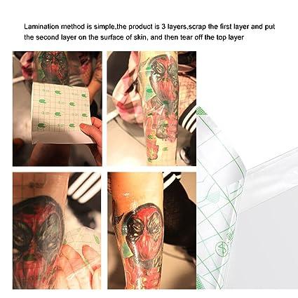 Anself 10pcs Reparación del Tatuaje Pegatinas Protectora Película ...