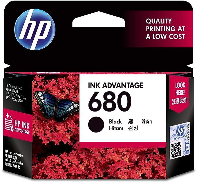 HP 680 Ink Advantage Cartridge  Black  Ink Cartridges