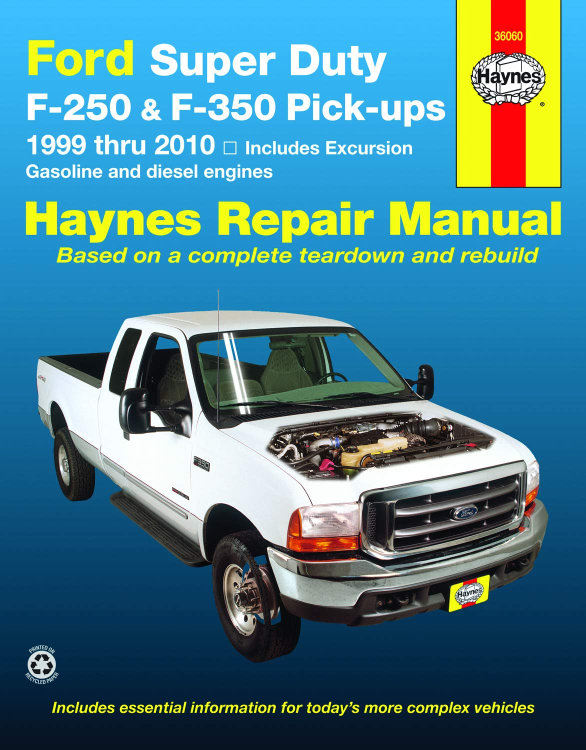 Ford Super Duty Pick-up & Excursion for Ford Super Duty F-250 & F-350  Pick-ups & Excursion 999-10) Haynes Repair Manual: Includes Gasoline and  Diesel Engines: Haynes, J.J.: 9781563928567: Amazon.com: Books | Ford F 350 Engine Schematics |  | Amazon.com