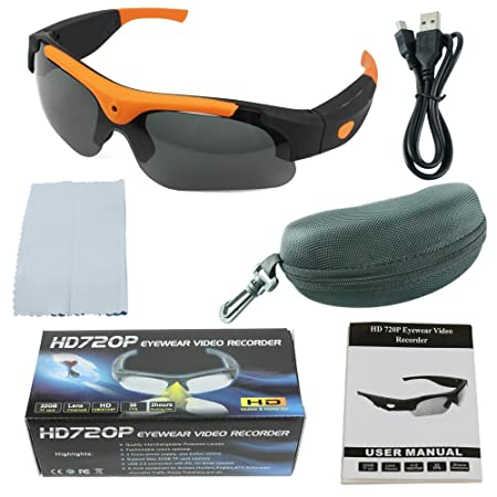 32941e42bc Spy Gadget® Professional Spy Camera Glasses HD 720P 30FPS Eye wear  Sunglasses with Camera Video Recorder ...