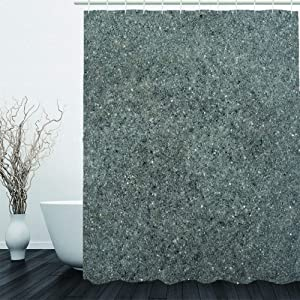 3D Shower Curtains For Bathroom,Frosted Stone Solid Color Printed Modern Waterproof Bath Curtain,Microfiber Washable Curtain Polyester Fabric,Toilet Partition Home Hotel Curtain,150180Cm/(59.0570.8