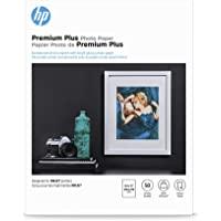 HP Premium Plus Photo Paper, Glossy, A, 50 Sheets (CR664A), White