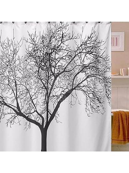 Buy Bastaa Elegant Scenery Big Black Tree Designed Waterproof ...