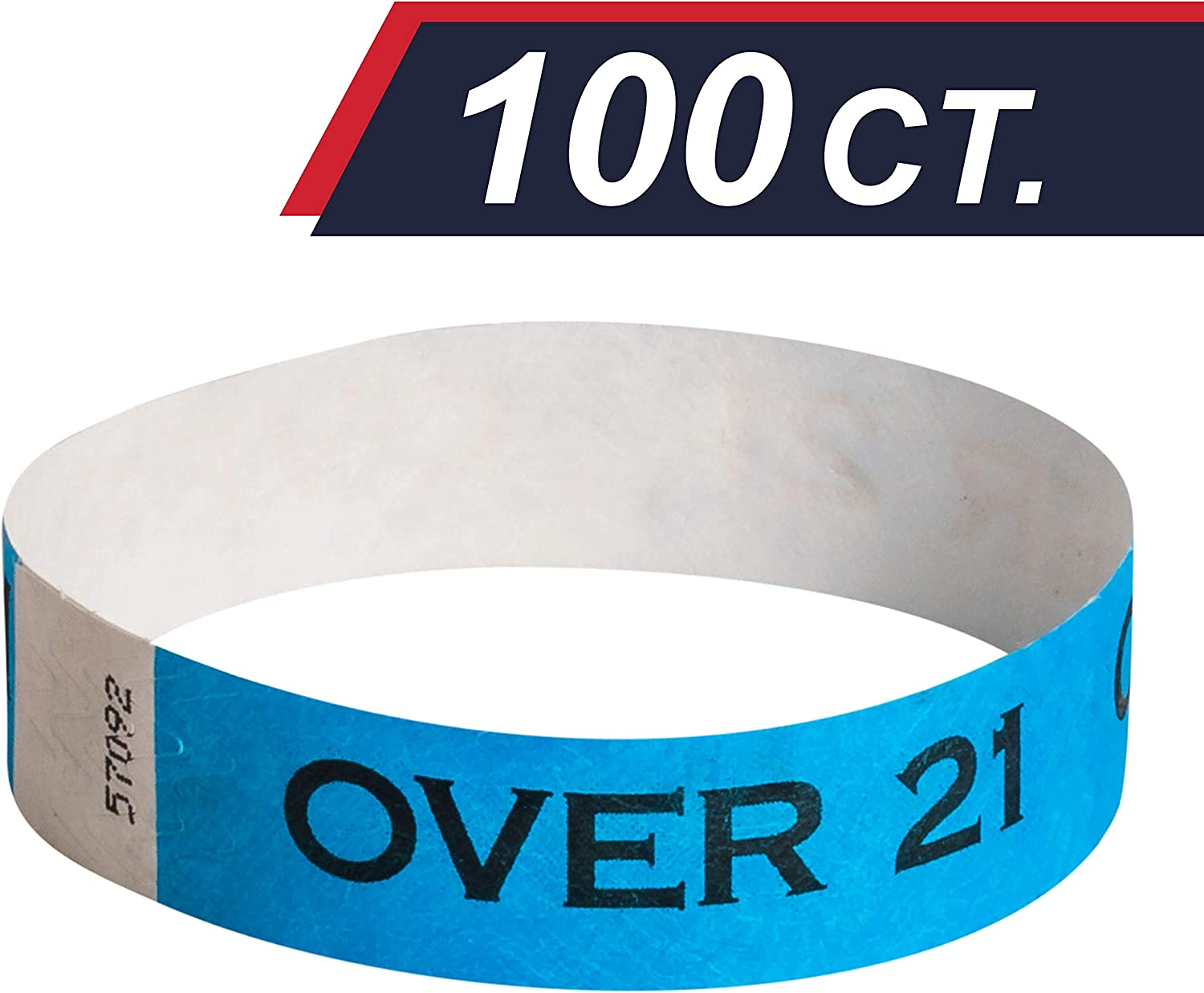 - Drinking Age Verified EventWristband Premium Age Verified Tyvek Wristbands Over 21 /& Verified Identification Event Wristband Paper Bracelets 100 Count, Red Neon Wrist Bands For Festivals