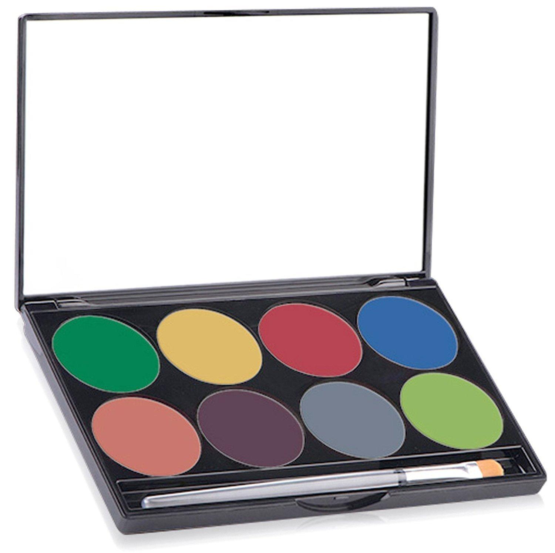 Mehron Makeup Paradise AQ Face & Body Paint 8 Color Palette (Tropical) 808-T
