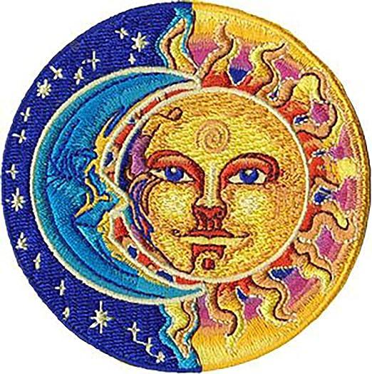 Amazoncom Novelty Iron On Patch 325 Sun Moon Stars Yin Yang