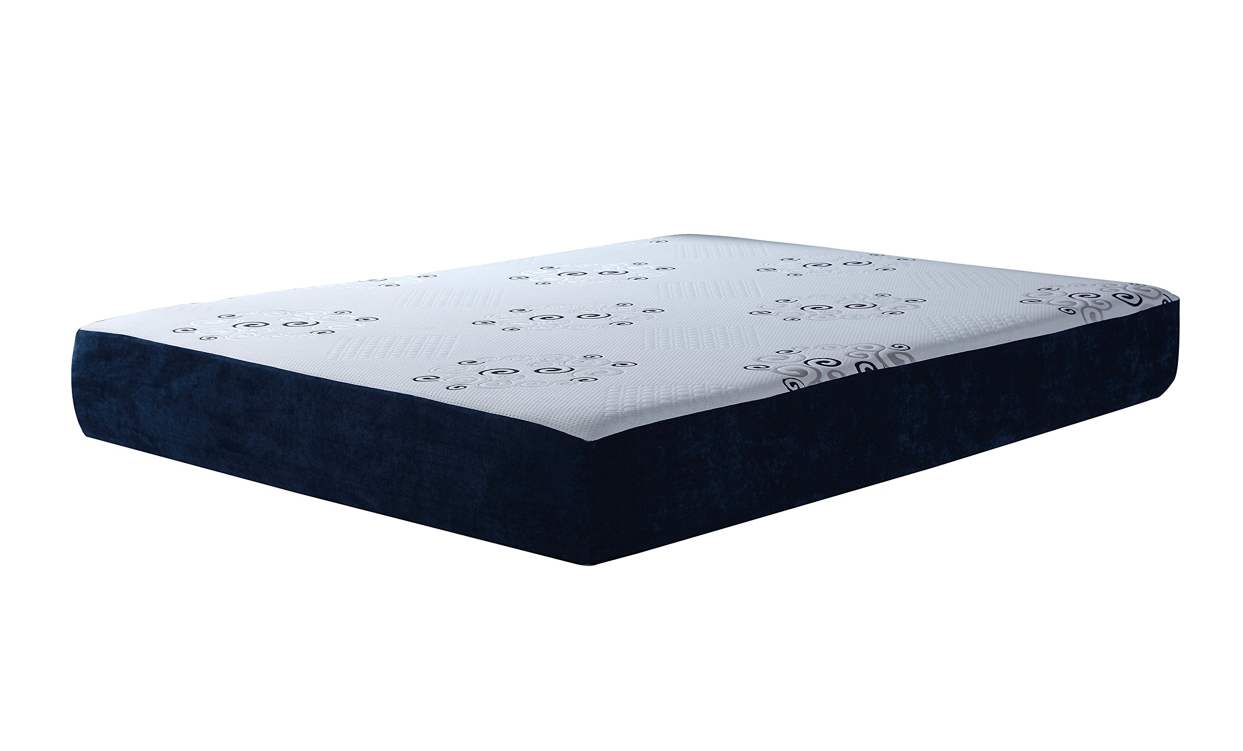 Swiss Ortho Sleep, 10'' High-Density, 3 x Layered reversible LATEX & MEMORY FOAM MATTRESS, w/ Bamboo Cover, All Sizes (Twin)