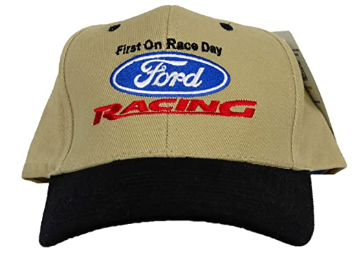 0a9d1ea918869c Image Unavailable. Image not available for. Color: Ford Racing Hat - Two  Tone Fine Embroidered Logo Adjustable Cap ...