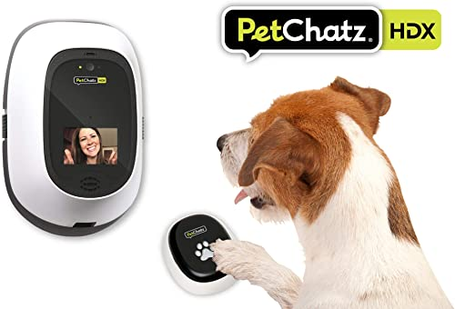 PetChatz HDX and PawCall HDX Bundle New USA Made Luxury 2-Way Audio Video Pet Treat Camera Accessory, HD 1080p, Motion Sound Detection Smart Video Recording, Streams DOGTV, for Dogs and Cats