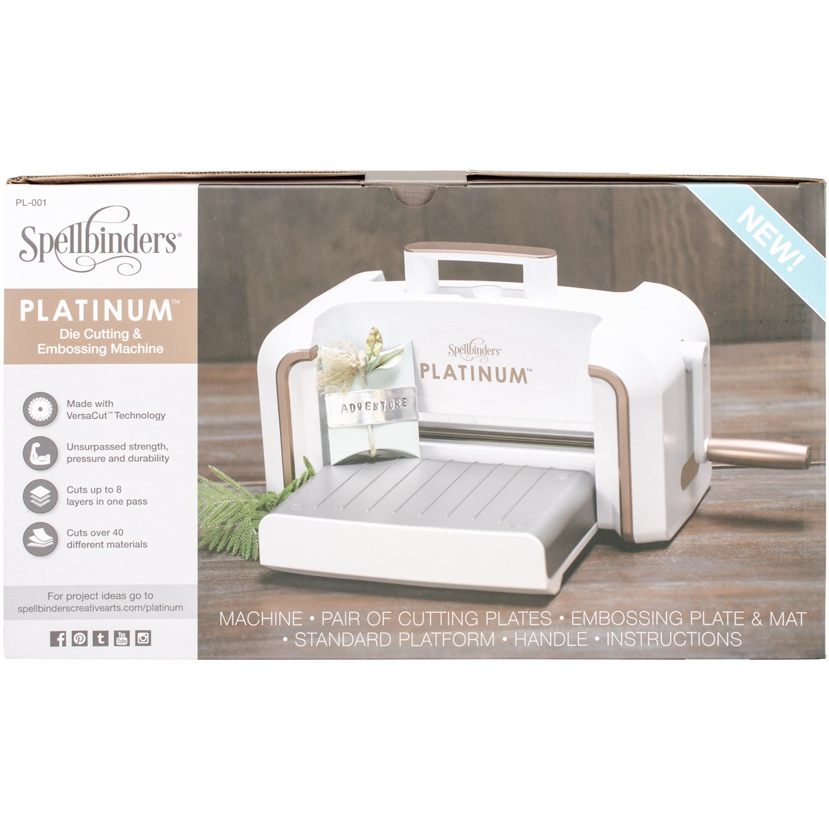 Spellbinders PL-001 Platinum Cut & Emboss Machine, White