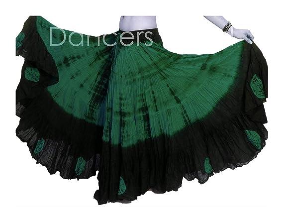 Dancers World Ltd - Falda de Danza para el Vientre (algodón, 0,9 m ...