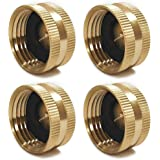 Twinkle Star 4 Pack Garden Hose Brass Hose Cap with Washers, 3/4""