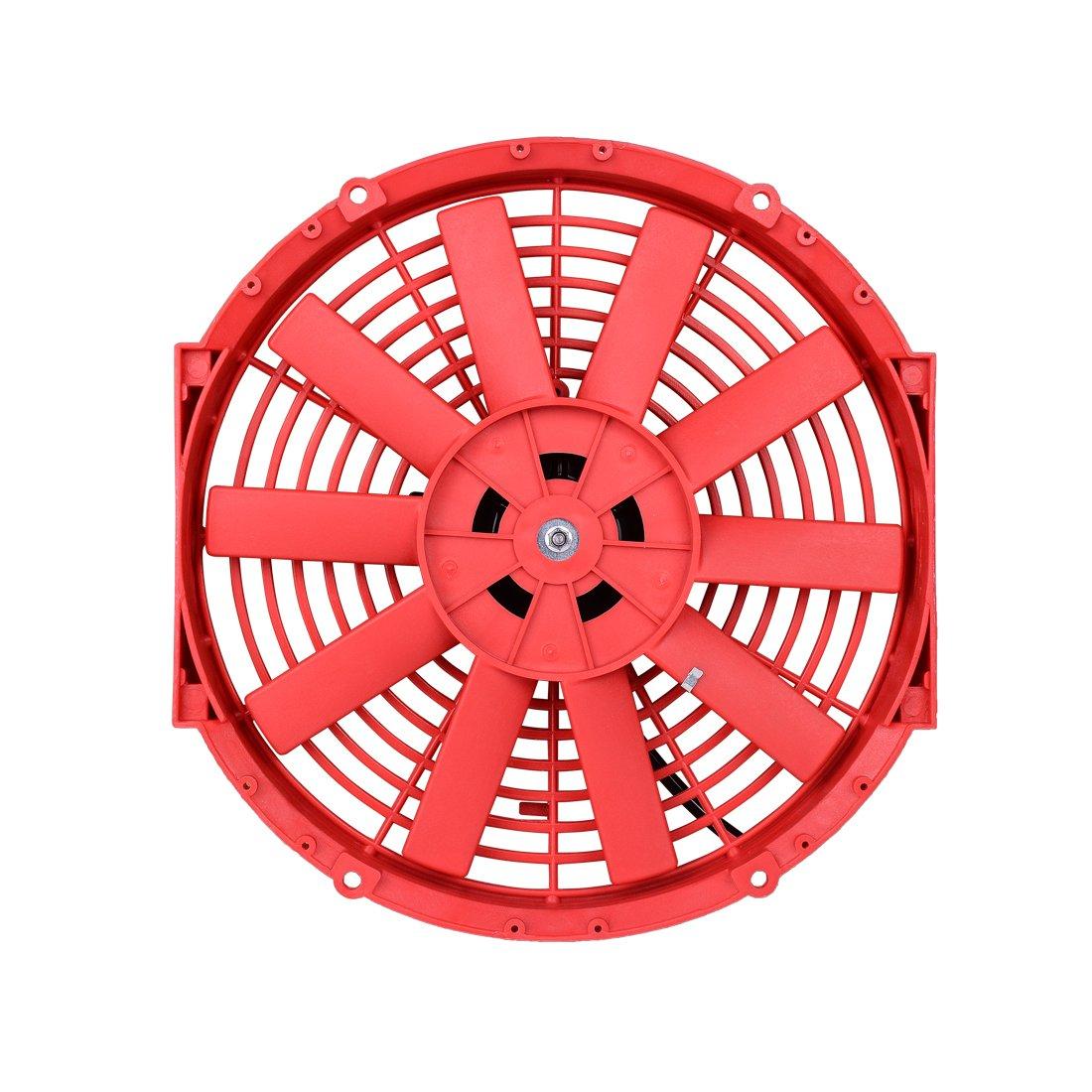 12 High Performance Electric Cooling Fan Push Pull Zirgo Wiring Diagram Radiator Slim 12v 80w 1550 Cfm With Mounting Kitdiameter Depth 256