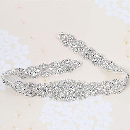 Wedding Bridal Applique For Crystal Rhinestone Dress Sash Belt