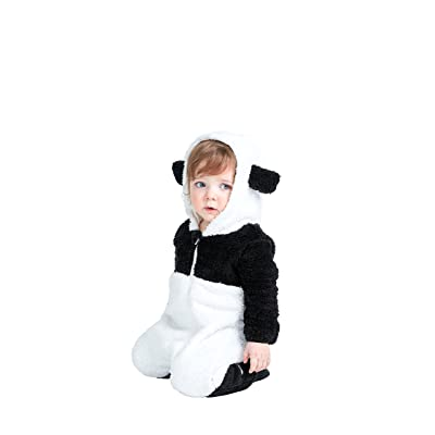 Animal Style Cute Panda Baby Bodysuits, All In One Jumpsuit, Super Soft Fleece …